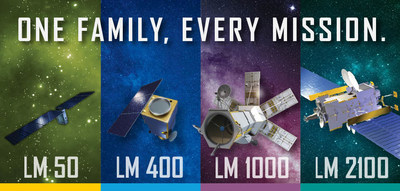 Lockheed Martin's family of solutions—all now featuring common components—include four series of satellites from nanosatellites to powerful geostationary platforms. (PRNewsfoto/Lockheed Martin)